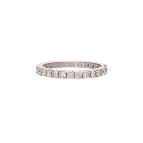 Gillian Conroy 14k White Gold 2mm Diamond Eternity Band Ring
