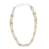 Arielle de Pinto Rope Necklace in Silver and Gold 20""
