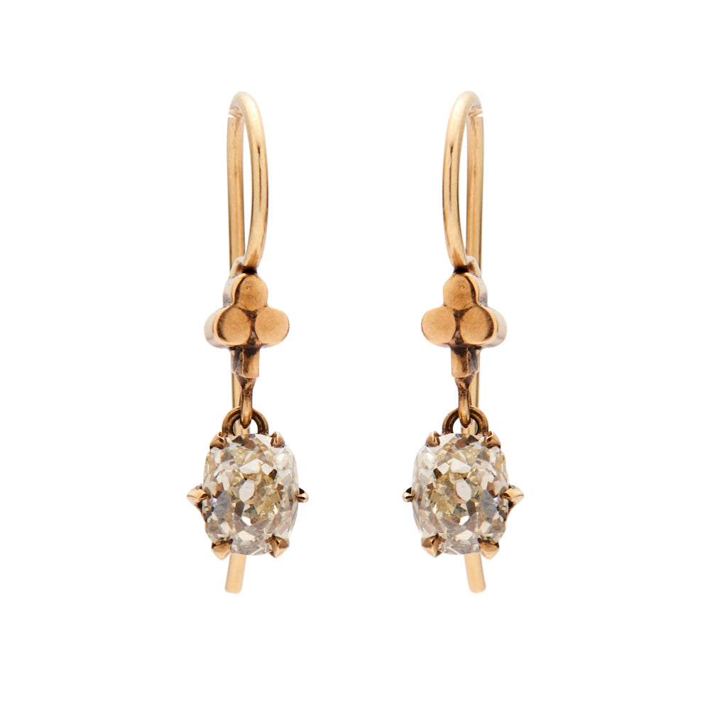 diamond products antique gold earrings rozental collections victorian antiques