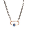 Marla Aaron 14k Yellow Gold Medium Sapphire Baguette Lock