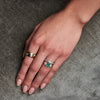 Vintage 18k Emerald & Diamond Ring