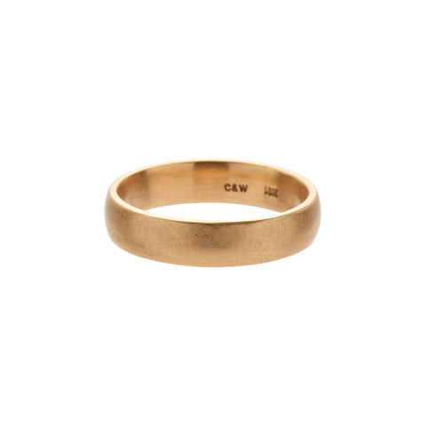 Gillian Conroy 14k Yellow Gold Matte Modern Classic Band - 4mm