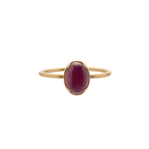 Gabriella Kiss 18k Oval Cabochon Ruby Ring