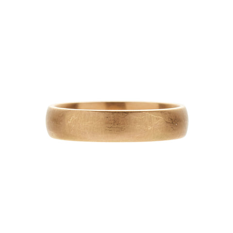Gillian Conroy 18k Matte Men's Yellow Gold Classic Band Ring - 4mm
