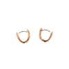 Marla Aaron 18k Gold Huggie Hoop Earrings