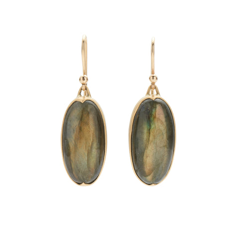 Gabriella Kiss 18k Oval Labradorite Earrings