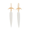 Gillian Conroy 14k White Agate Drop Earrings