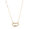 Marla Aaron 14k Rose Gold Square Link Chain