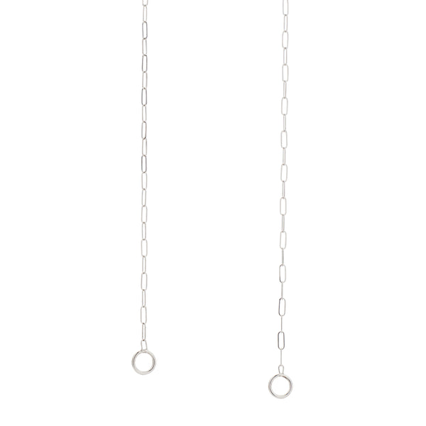 Marla Aaron Square Link Chain in 14k White Gold 16""