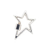 Marla Aaron 14k White Gold Star Lock