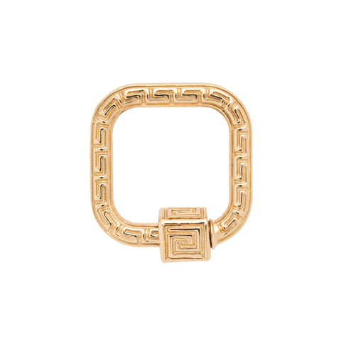 Marla Aaron 14k Yellow Gold Greek Key Meander Lock