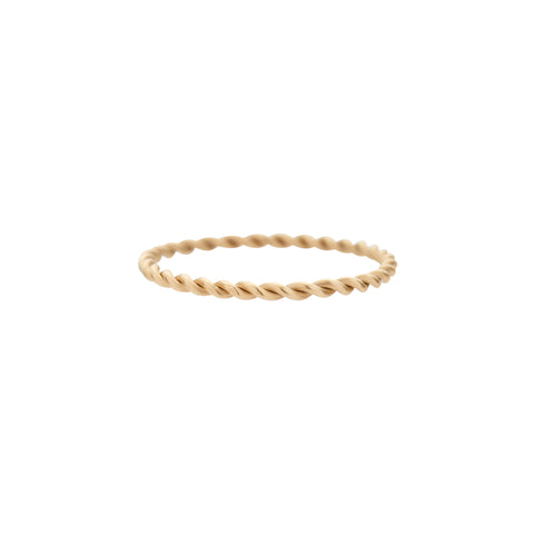 Gillian Conroy 14k Twisted Gold Band Ring