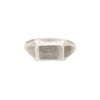 Chris Neff Sterling Silver Narrow Rectangular Signet