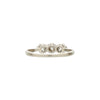 Antique Edwardian 18k & Platinum Three European Cut Diamond Ring
