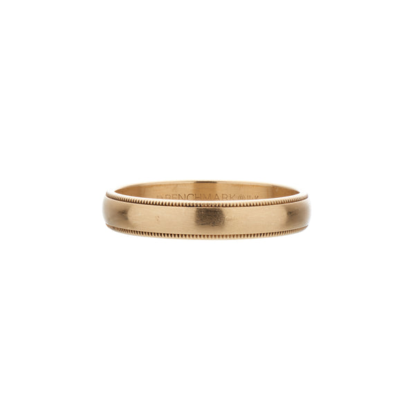 Gillian Conroy 14k Yellow Gold Men's Band Ring with Milgrain Edge