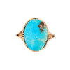 Antique Arts & Crafts 14k & Turquoise Ring