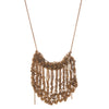 Arielle de Pinto Scallop Drop Necklace in Burnt Gold