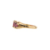 Antique Edwardian 18k Rhodolite Garnet Half Hoop Ring