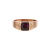 Antique Turn of the Century 9k Rose Gold & Rhodolite Garnet Ring