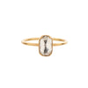 Gabriella Kiss 18k Rounded Rectangular White Diamond Ring - .70ct