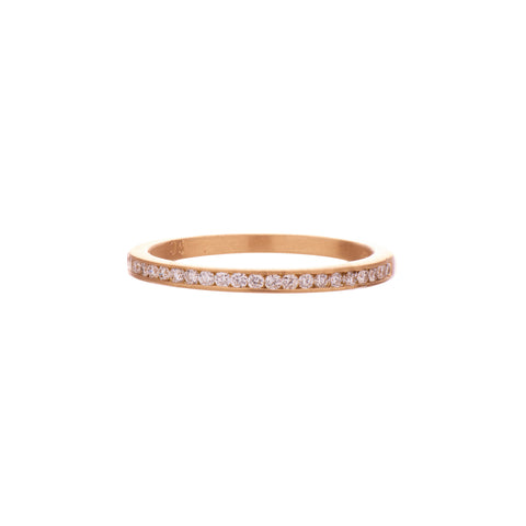 Gillian Conroy 18k 1.3mm Channel Set Diamond Band
