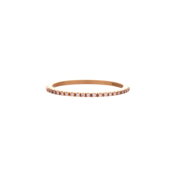 Gillian Conroy 18k Tapered Prong Set Diamond Claire Band
