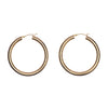 Gillian Conroy 14k Large Gold Tube Hoop Earrings