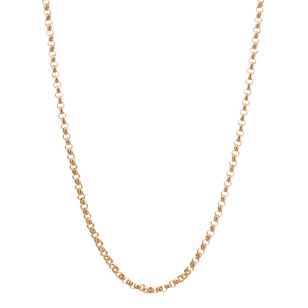 14k Yellow Gold Rolo Chain - 24""
