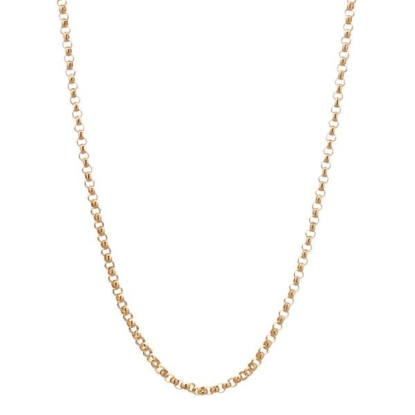 14k Yellow Gold Rolo Chain - 20""