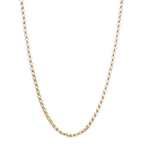 14k Yellow Gold Rolo Chain - 18""