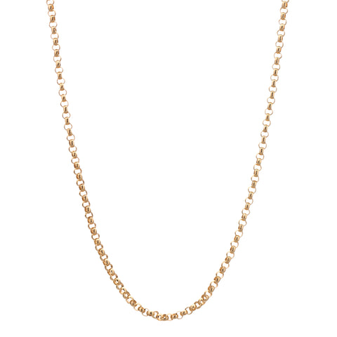 14k Yellow Gold 2mm Rolo Chain in 24""