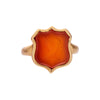 "Antique 15k Carnelian ""Pelican in Her Piety"" Ring"
