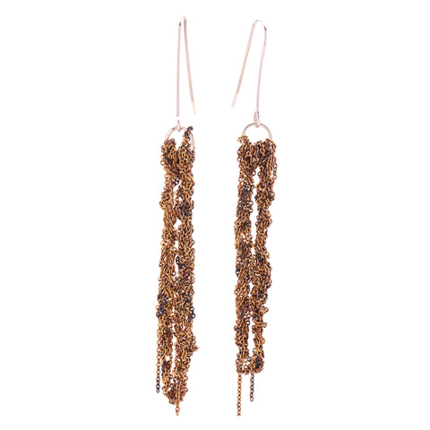Arielle de Pinto Hook Drip Earrings in Burnt Gold