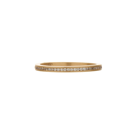 Gillian Conroy 14k 1mm Channel Set Diamond Band