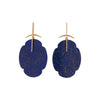 Gabriella Kiss 18k Lapis Cloud Earrings