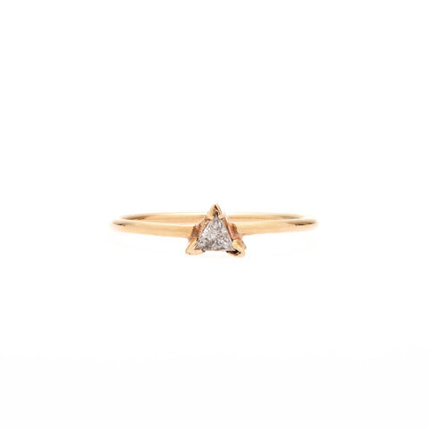 B.C.E. Jewelry 14k Triangle Cut White Diamond Ring