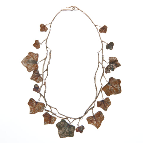 Gabriella Kiss Bronze Oxidized Silver Ivy Necklace