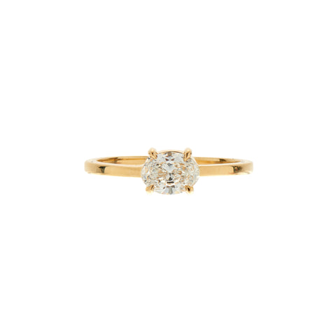 Gillian Conroy 18k Oval White Diamond Ring .50ctw