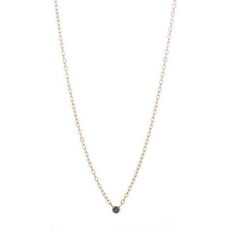 B.C.E. Jewelry 14k Sapphire 2mm Necklace