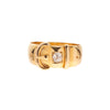 Antique Victorian 18k & Diamond Buckle Ring