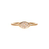 Gillian Conroy 18k Marquise White Diamond Bezel Set Ring 0.57ctw