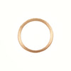 "Gillian Conroy 14k ""I AM LOVE"" Black Diamond Half Hoop Ring"