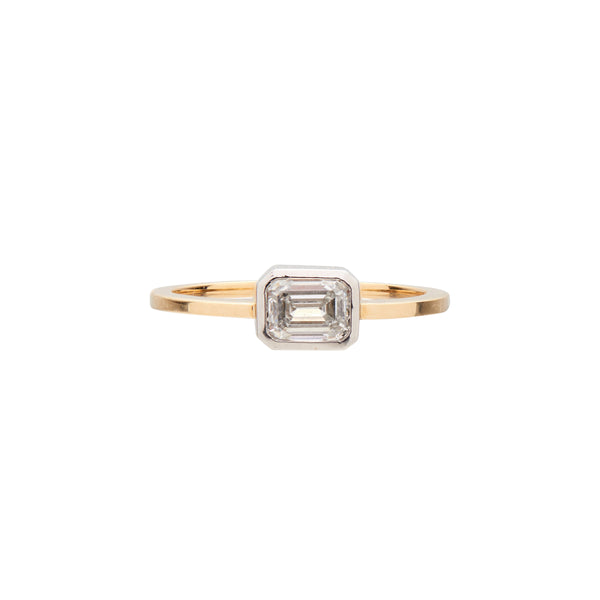 Gillian Conroy 18k & Platinum Emerald-Cut White Diamond Ring