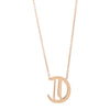 "Louison Fine 14k Gold & Diamond Gothic ""C"" with 16""-18"" Chain Necklace"