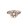 Antique Victorian 14k Silver Rose Cut Diamond Cluster Ring