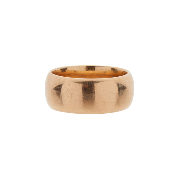 Antique 18k Women's Wide Gold Band