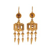 Antique Victorian 15k Fringe Earrings with Tiny Garnets