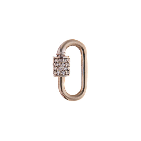 Marla Aaron 14k Yellow Gold and Diamond Stoned Baby Lock