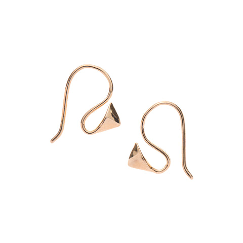 Gillian Conroy 14k Yellow Gold Pair of Polished Thorn Hook Earrings