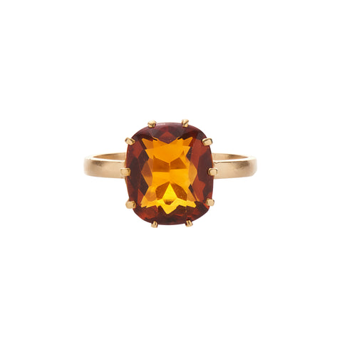 Antique Late Victorian 14k Citrine Ring